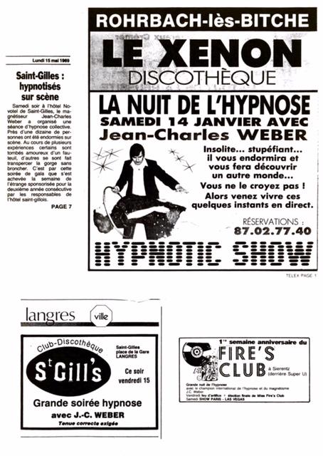 page presse et médias Conférences démonstrations magnétisme et hypnose avec Jean Charles Weber